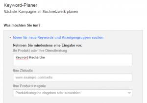 KeywordImPlaner