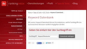 RankingCheckKeywordRecherche