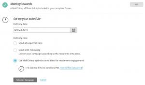 Affilidays-2106-E-Mail-Versandzeitpunkt